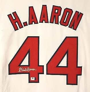 Hank Aaron Atlanta Braves Signed Autographed White #44 Jersey COA