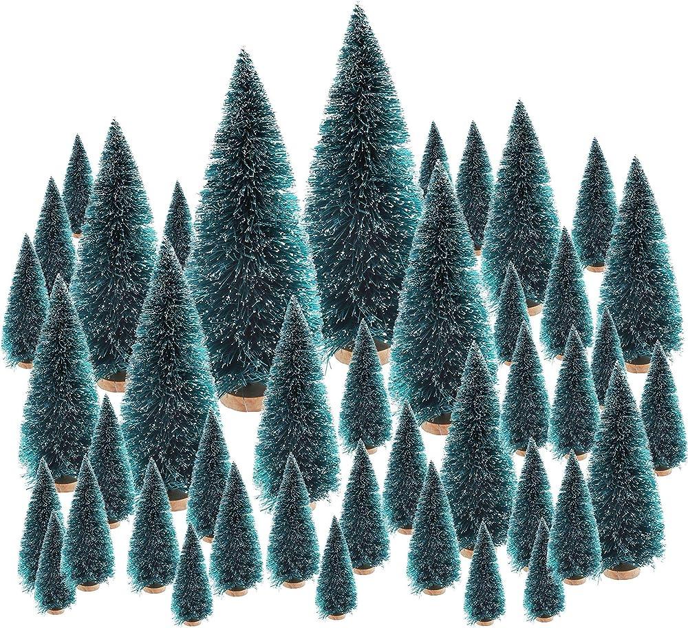 Mini albero di natale in 6 dimensioni,48 pezzi,accessorio per il presepe