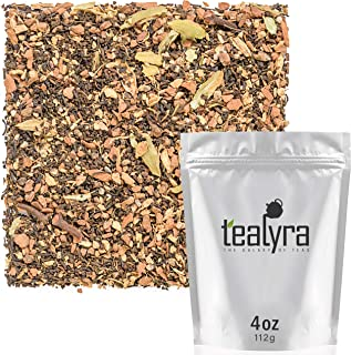 Tealyra - Traditional Masala Chai - Cardamom - Cinnamon - Ginger - Indian Black Spicy Loose Leaf Tea - Bold Caffeine - 112g (4-ounce)