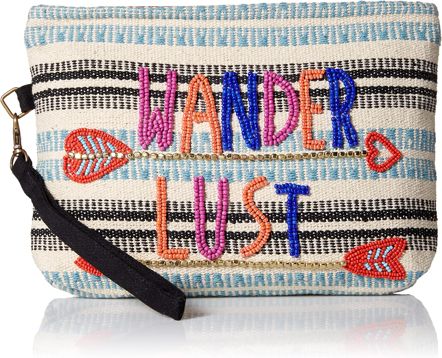 'ale by alessandra Wanderlust Beaded Clutch with Detachable Strap