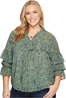 Lucky Brand - Plus Size High Neck Top