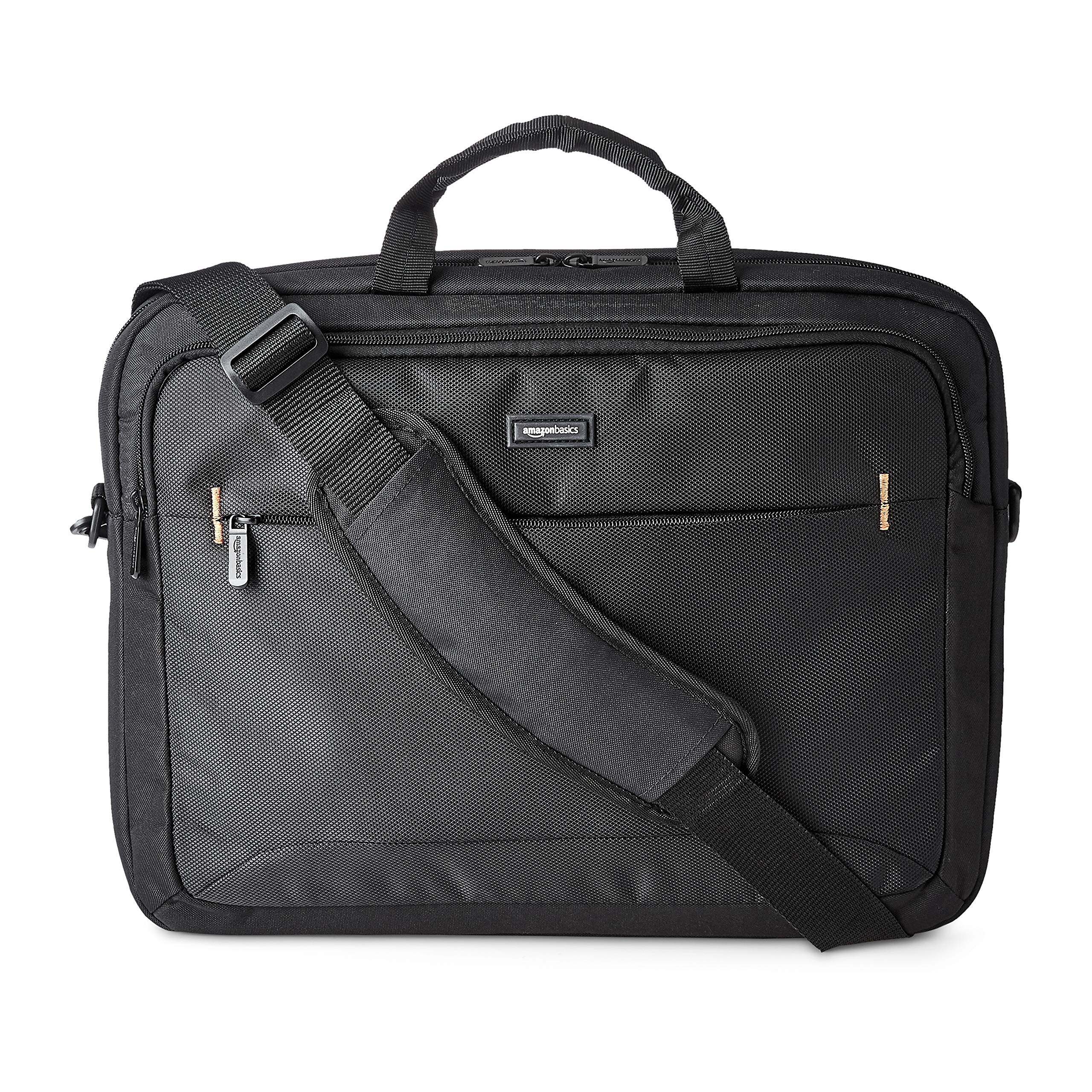 Amazon Basics 17.3-Inch Laptop Case Bag, Black, 1-Pack fits Dell, HP, ASUS, Lenovo, MacBook Pro and more