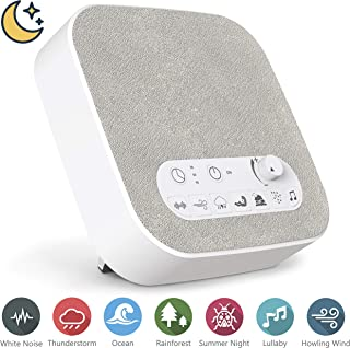 White Noise Machine for Sleeping, Aurola Sleep Sound Machine with Non-Looping Soothing Sounds for Baby Adult Traveler, Portable for Home Office Travel