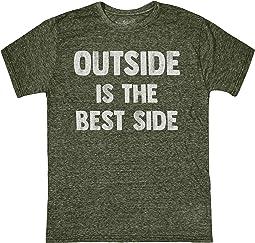 Vintage Tri-Blend Outside Is The Best Side Tee (Big Kids)