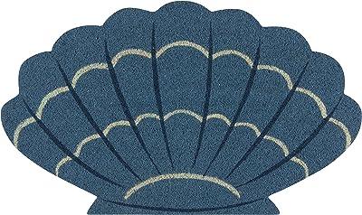 Now Designs Natural Fiber Printed Doormat, Coastal Treasures - 18 x 30 in | Vinyl-Backed