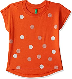 United Colors of Benetton Girls' Regular Fit Polka Dot T-Shirt