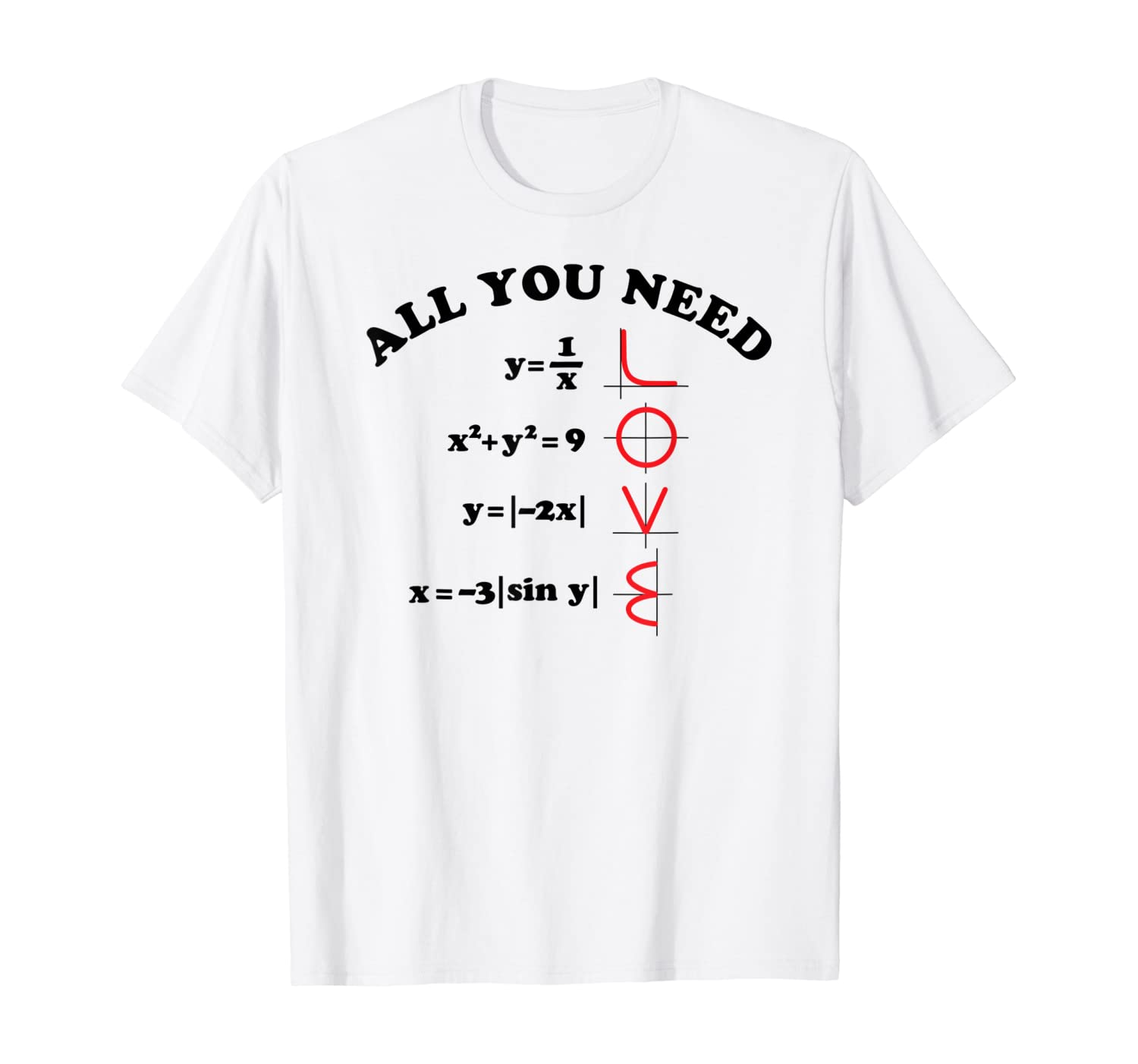 All You Need is Love Mathe Gleichung Spruch Frauen T-Shirt