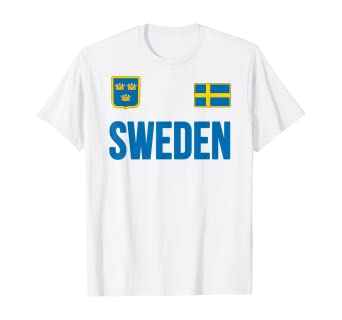 Amazon Com Sweden T Shirt Swedish Flag Sverige Gift Love Souvenir Clothing