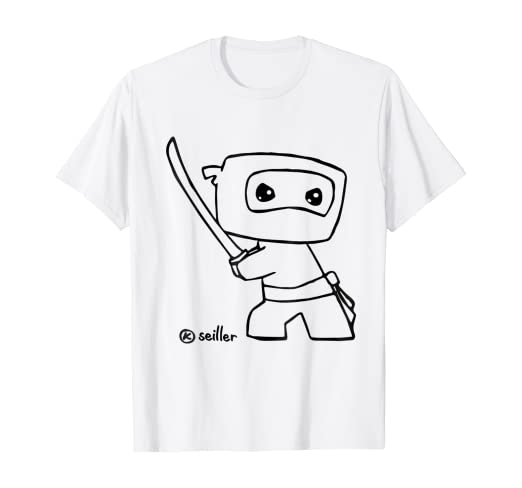 Amazon.com: Cute Baby Ninja dibujo TSHIRT – Doodle de Ninja ...