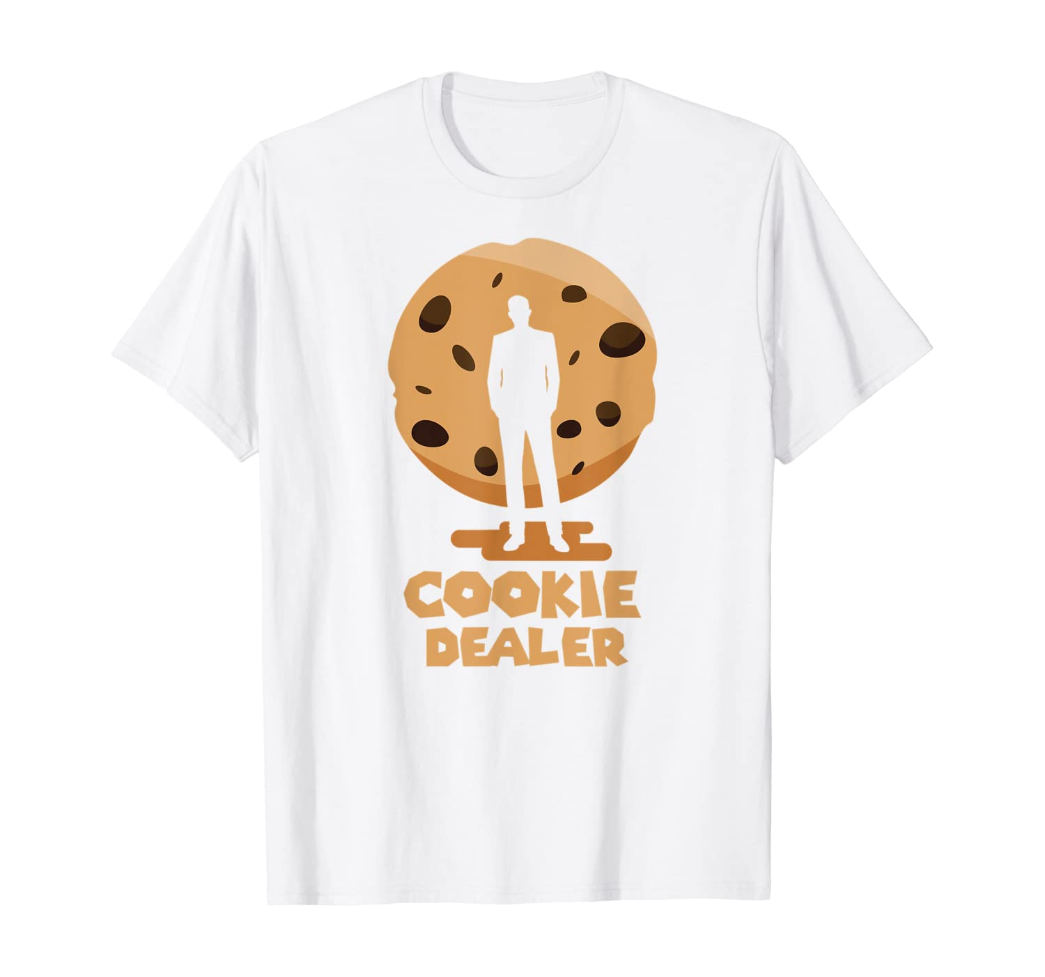 Amazon Com Cookie Dealer Chocolate Chip Funny Baking T Shirt Clothing