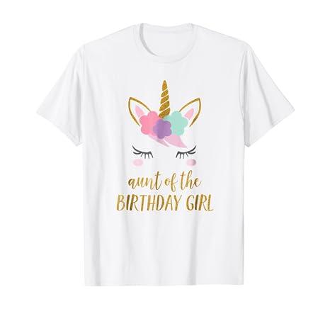 Amazon.com: Unicornio tía, tía de la camisa cumpleaños de ...