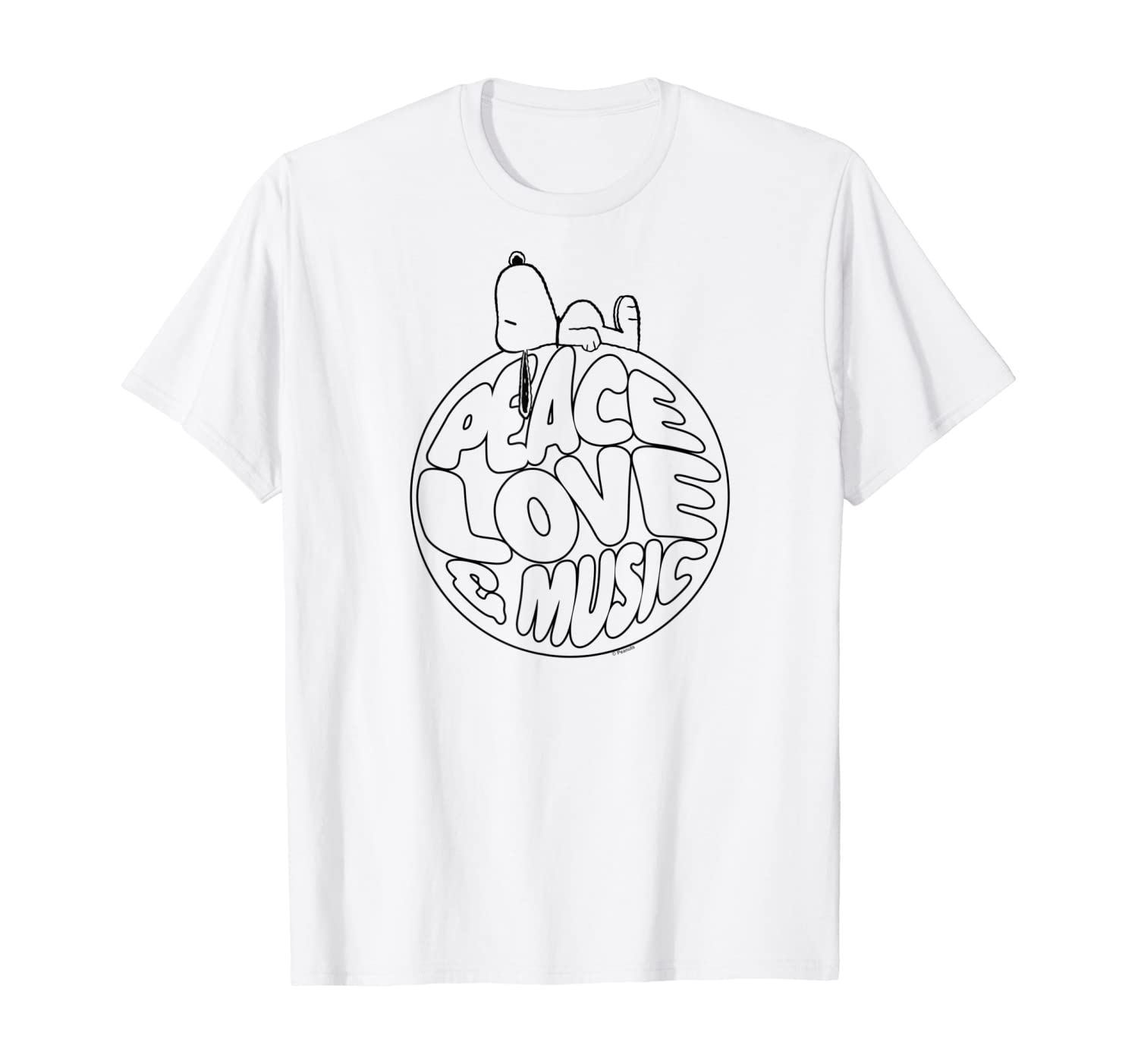 Peanuts Woodstock 50th Anniversary Peace Love and Music T-Shirt