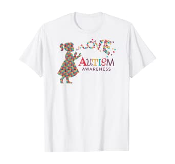Love Puzzle Heart Autism Awareness T-shirt Support Love Kind Shirts
