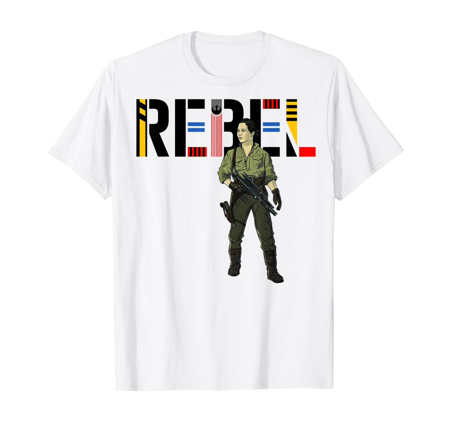 Amazon Com Star Wars The Rise Of Skywalker Rebel Rose T Shirt Clothing