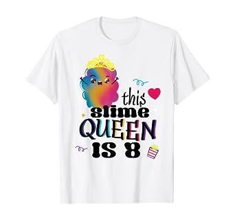 Amazon.com: Niñas Slime fiesta de cumpleaños playera 8 años ...