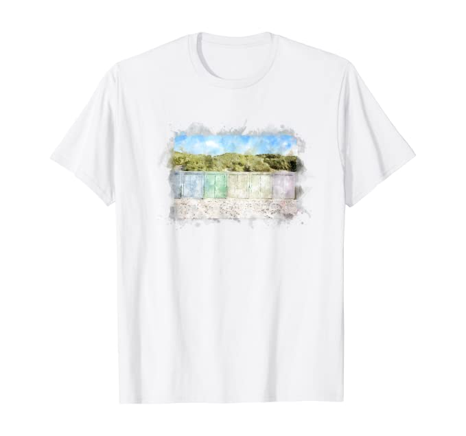Domburg Strandhütten T-Shirt Zeeland Walcheren