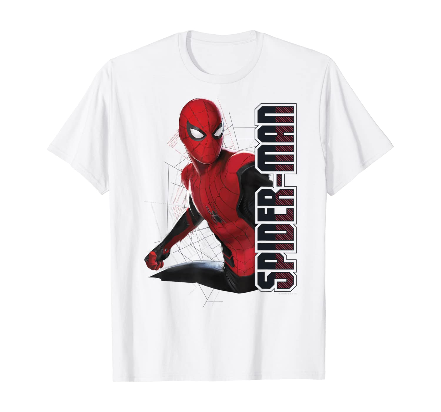 Marvel Spider-Man Far From Home Action Pose Logo T-Shirt