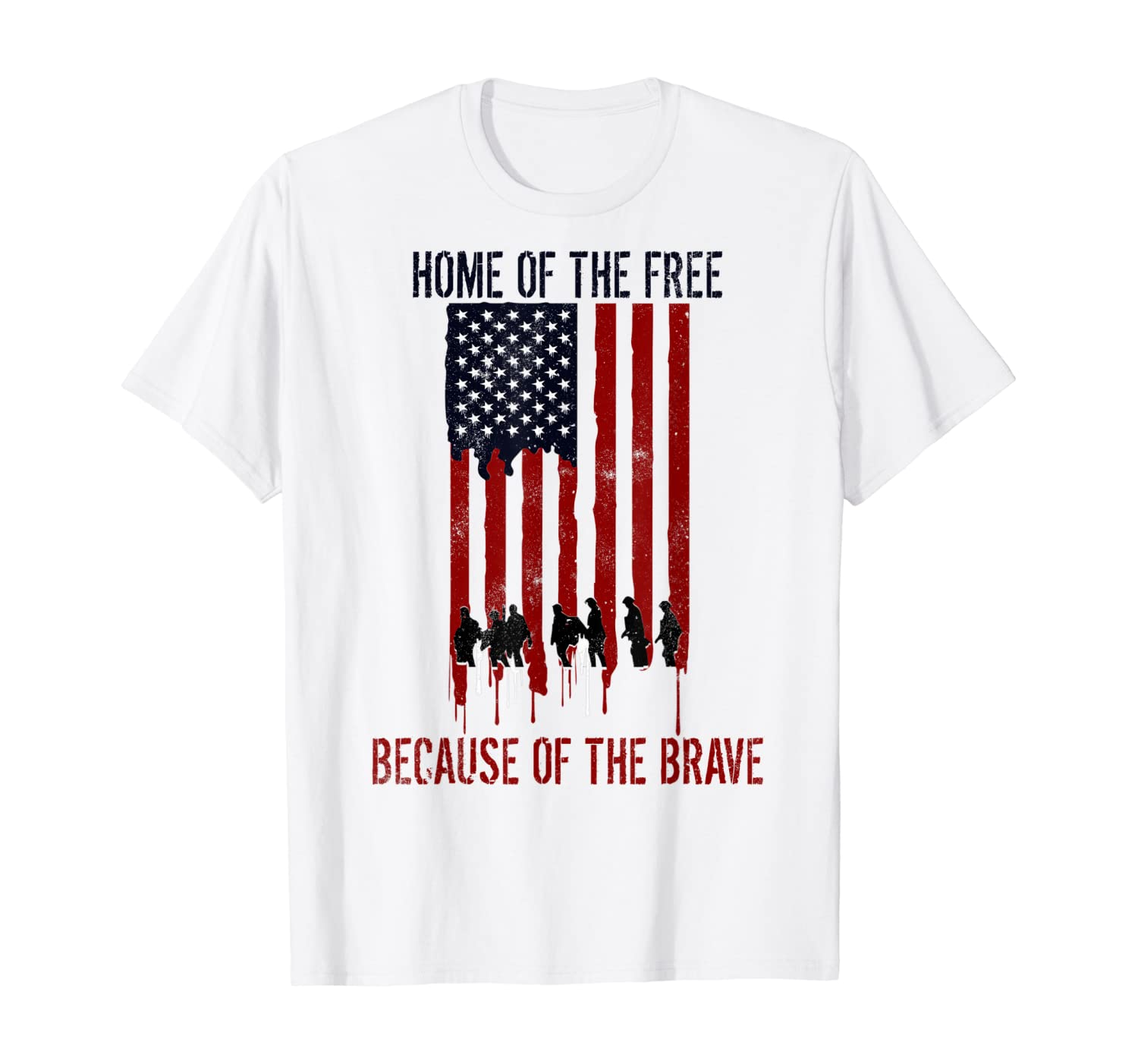 Home Of The Free Because Of The Brave Veteran Gift T-Shirt