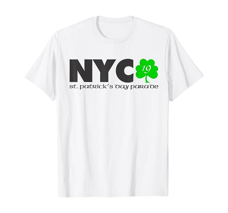 30db0770b Amazon.com: St Patricks Day Shamrock T-Shirt 2019 NYC Parade: Clothing