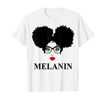 Amazon.com: Gift Afro Diva Red Lips Black Girl Magic Puffs Melanin T-Shirt: Clothing