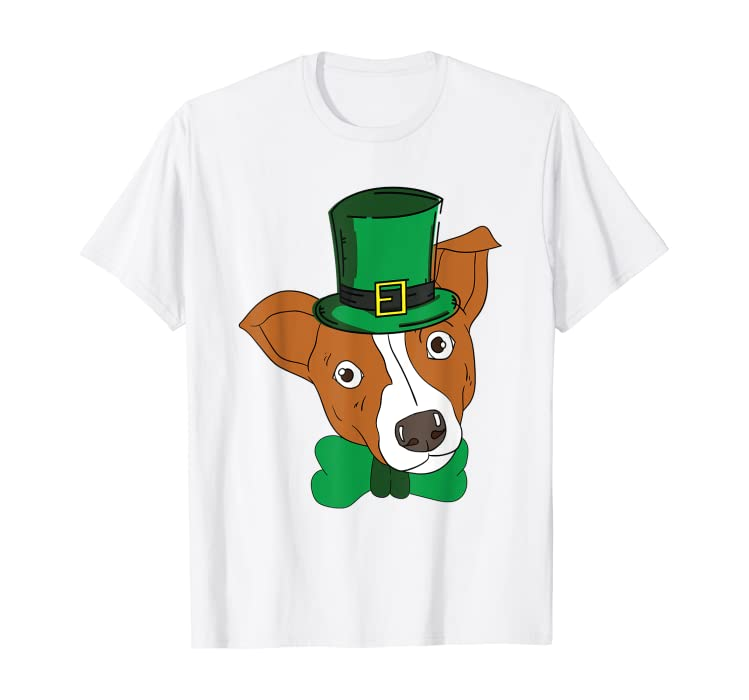36cef60be5fa23 Amazon.com  Jack Russell Terrier St. Patricks Day T-Shirt Lucky Dog Tee   Clothing