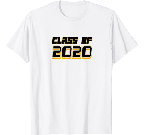 Black & Gold Class Of 2020 Graduation For Seniors Or Family T Shirt
