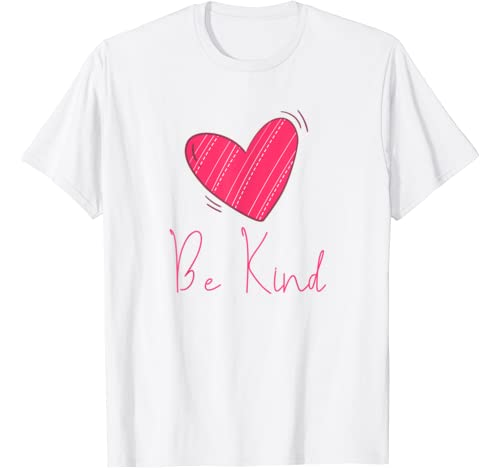 Cute Heart Valentines Day Family Celebrate Love   Be Kind T Shirt