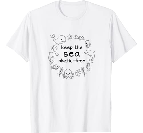 Earth Day Ocean With Sea Animals Keep The Sea Plastic Free T Shirt