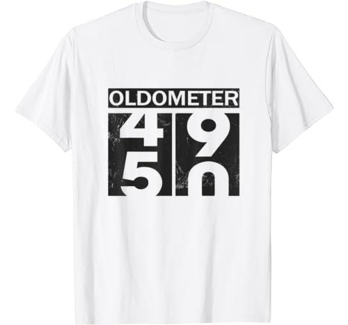 Oldometer 49 50 Shirt Funny 50th Birthday Gift T Shirt