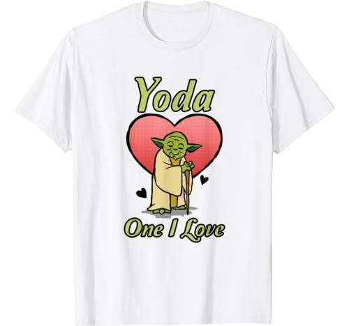 Star Wars Valentine's Day Yoda One I Love T Shirt