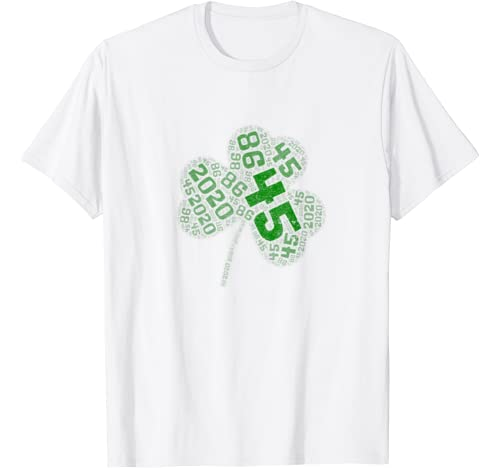 St Patricks Day Betsy Ross Trump Election Irish 45 Shamrock T Shirt