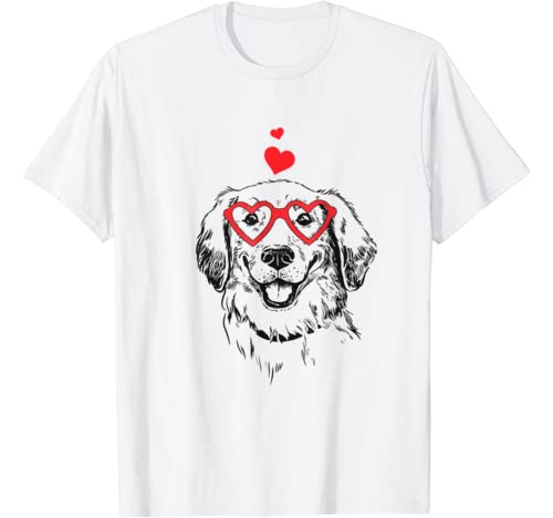 American Retrievers Golden Funny Dog Valentines T Shirt