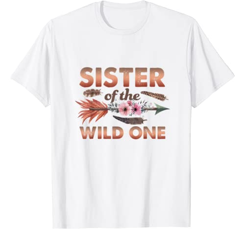 Sister Of Wild One 1st Birthday Outfit Family Matching Set T Shirt
