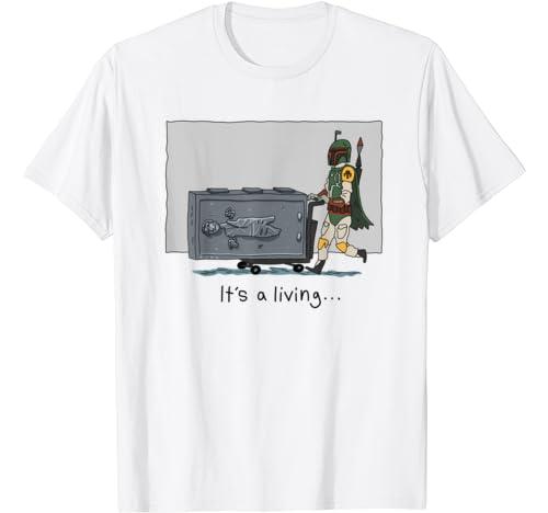 Star Wars Boba Fett It's A Living Doodle T Shirt
