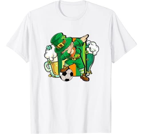 St Patrick's Day Soccer   St. Pattys   Dabbing Leprechaun T Shirt