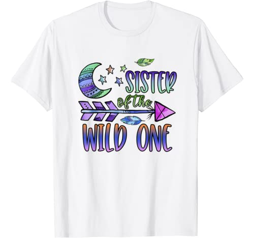 Sister Of The Wild One 1st Birthday Matching Family Outfit T Shirt