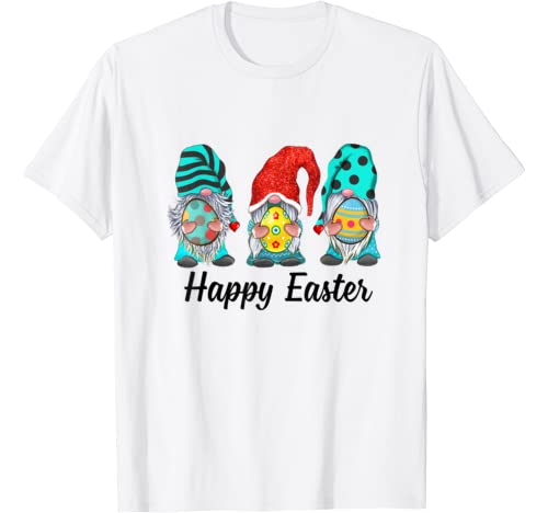 Gnomes Hunting Eggs Happy Easter Day Gift T Shirt
