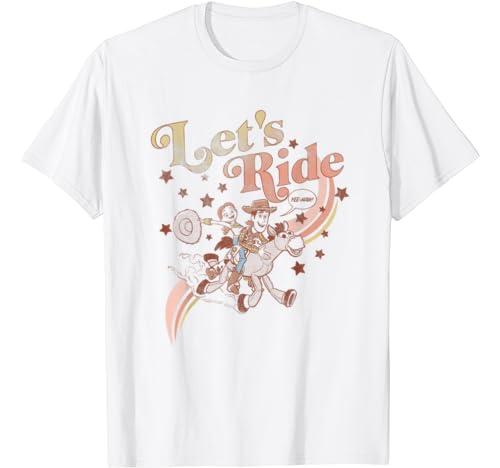 Disney Pixar Toy Story Jessie & Woody Let's Ride Gradient T Shirt
