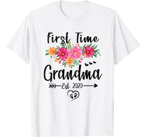 First Time Grandma Est 2020 Mother's Day New Grandma To Be T Shirt