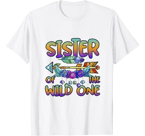 Sister Of The Wild One 1st Birthday Matching Family Outfits T Shirt