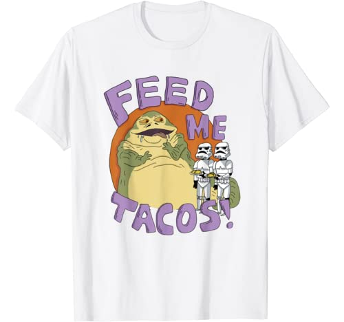 Star Wars Jabba The Hutt Feed Me Tacos Doodle T Shirt