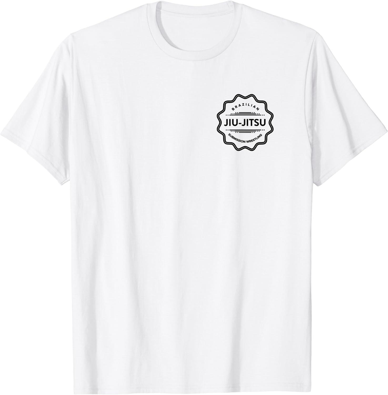 Brazilian Jiu-Jitsu T-Shirt with BJJ Logo for Martial Arts F