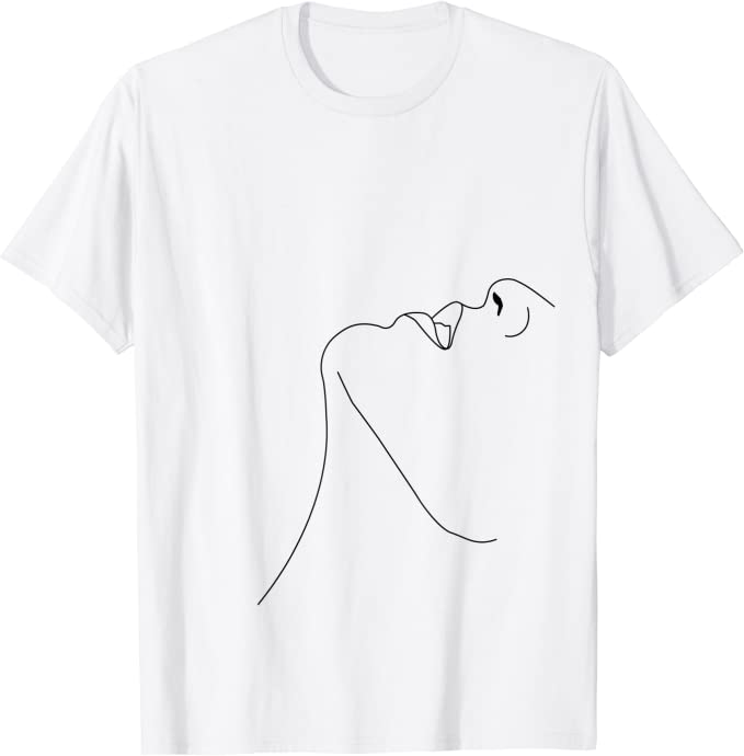 One Line t-shirt,Abstract Face t-shirt,Line art T-shirt,tumblr tee,Aesthetic Clothing,Hipster clothing,Tumblr