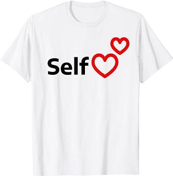 Rainbow Heart Shirt Heart Tee Self Love T-Shirt Love Your Self Shirt Love Yourself Shirt Rainbow Tee