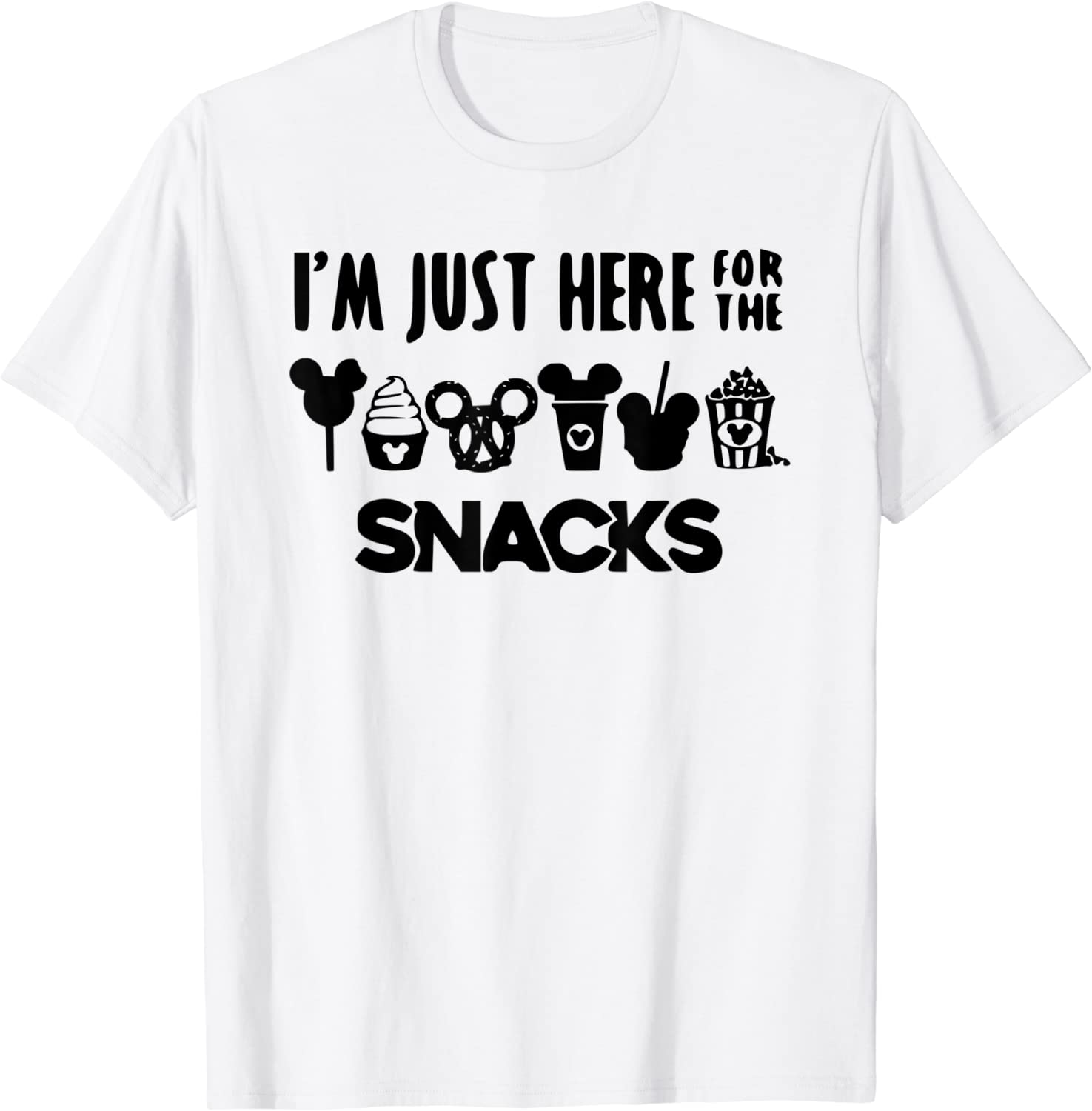 Here for the Snacks Family Vacation T-Shirt
