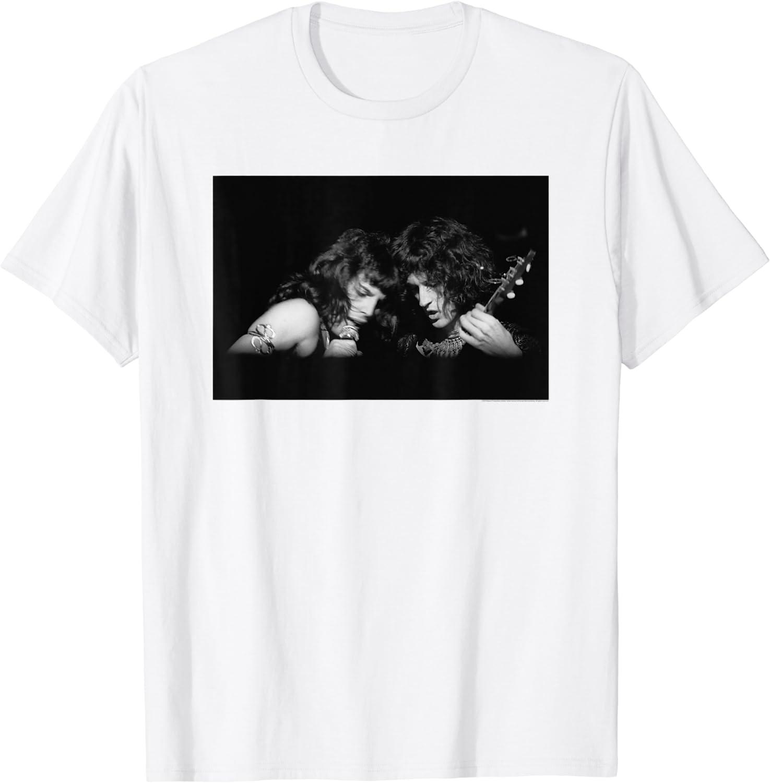 Queen T Shirt Live Shot Freddie Spotlight Band Logo new Official Mens Black Size