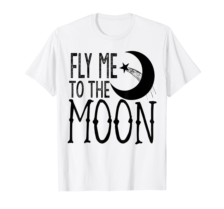 Amazon.com: FLY ME TO THE MOON playera, Celeste (Baby Blue ...