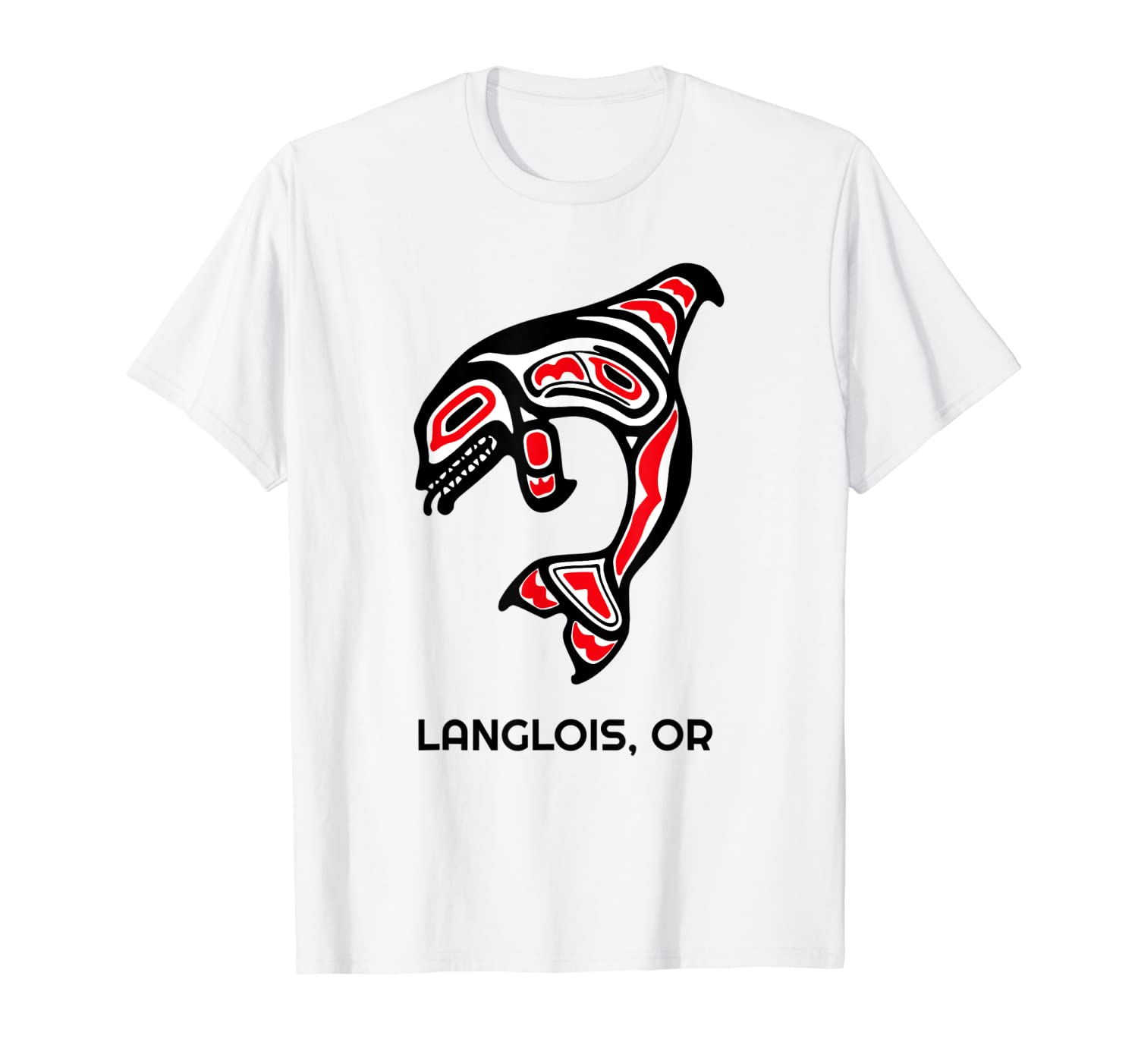 Langlois, Oregon Native American Orca Killer Whales Gift T-Shirt