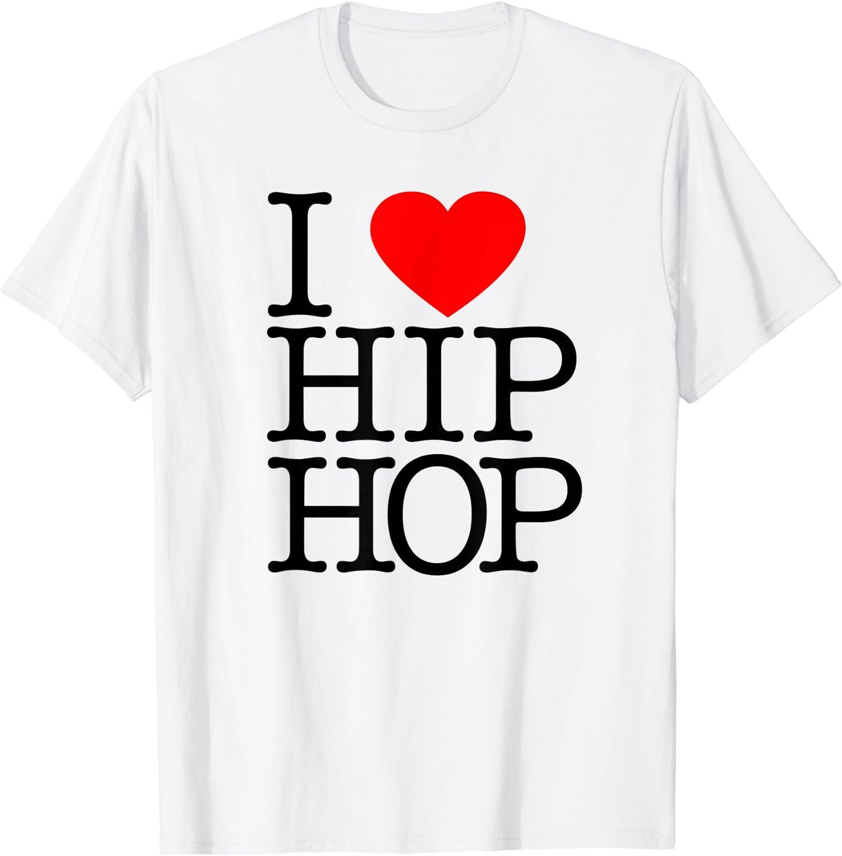 I Love Hip Hop (Heart) - Rap and Hip Hop Fan T-Shirt