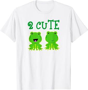 Camiseta De 2 Ranas Para Niños Y Niñas Diseño De Rana Con Texto En Inglés Clothing